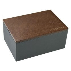 Mini Men Watch Charcoal Grey + Lid 18x12.5x9 Cm