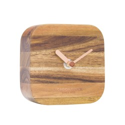 Square Wooden Mantel Clock