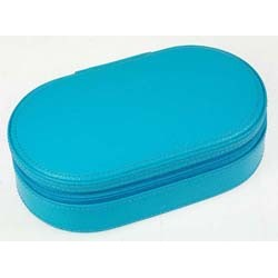 DULWICH BLUE TEAL OVAL JEWEL CASE