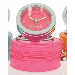 DULWICH TRAVEL CLOCK PINK