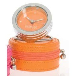 DULWICH TRAVEL CLOCK ORANGE