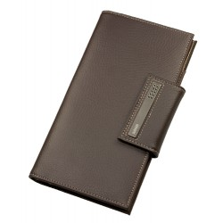 DULWICH MEN BROWN TRAVEL WALLET (12 x 2 x 22 CM)