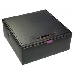 DULWICH MEN BLACK WATCH BOX (19 x 19 x 8 CM)