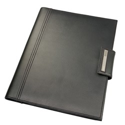 DULWICH MEN BLACK DOCUMENT FOLDER (25.5x2.5x33 CM)
