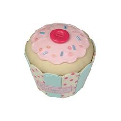 BUTTON IT CUP CAKE PIN CUSHION (7.5x7.5x7)