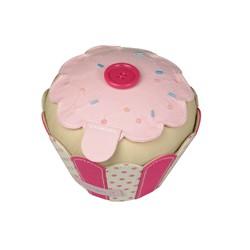 BUT. IT CUP CAKE PIN CUSHION/BUTTON BOX (12x12x10)