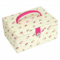 LARGE FLORAL SEWING BOX 31x23x14.5