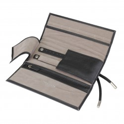 BOUTIQUE JEWELLERY ROLL BLACK (21 x 10 x 3 CM)