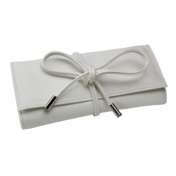 BOUTIQUE JEWELLERY ROLL WHITE (21 x 10 x 3 CM)