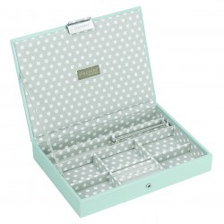 Top Aqua/Grey Polka Dot (25 X 18 X 3.5 Cm)