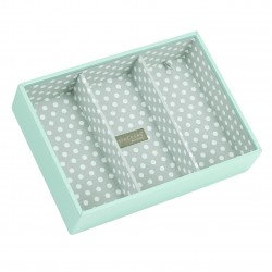 Aqua/Grey Polka Dot Deep 3s 25 X 18 X 6 Cm
