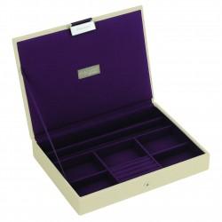 Top Cream & Purple (25 X 18 X 3.5 Cm)