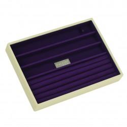 Cream & Purple Ring/Brac 25 X 18 X 3.5 Cm