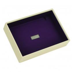 Cream & Purple Deep 25 X 18 X 6 Cm