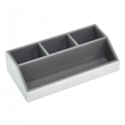 WHITE GLASS COSMETIC CADDY