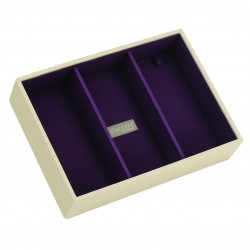 Cream & Purple Deep 3 Sec 25 X 18 X 6 Cm