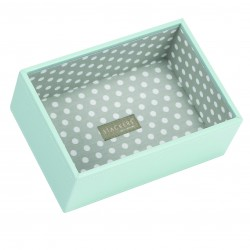 Mini Aqua/Grey Polka Deep 18 X 12.5 X 7 Cm