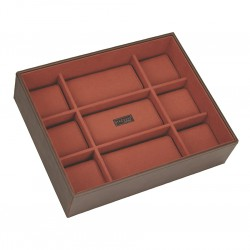 Watchbox 15 Pc Open Brown / Orange