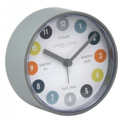 """Tell the time"" Alarm Clock Diam 8.5 cm"