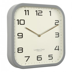 Square grey wall clock Diam 30 cm