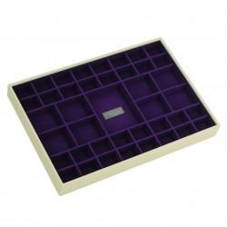 XL Criss Cross Cream Purple