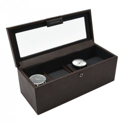 4PC WATCH BOX - BROWN