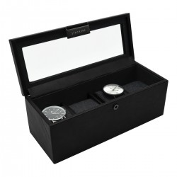 4PC WATCH BOX - BLACK