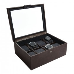 8PC WATCH BOX - BROWN