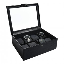 8PC WATCH BOX - BLACK