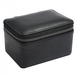 LARGE ZIPPED WATCH BOX - BLACK