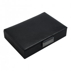 LIDDED MINI CUFFLINK BOX - BLACK