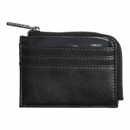ZIPPED ID CASE BLACK