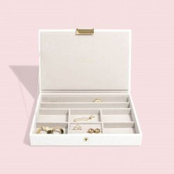 STACKERS CHALK WHITE CROC CLASSIC LIDDED STACKER