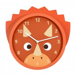 LITTLE STACKERS TROP TRICERATOPS WALL CLOCK