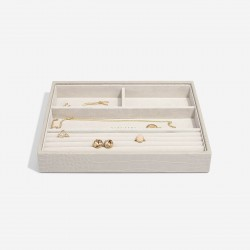 STACKERS PUTTY CROC CLASSIC 4 SECTION JEWELLERY BOX