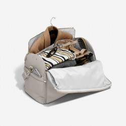 STACKER TAUPE ZIPPED SUIT BAG