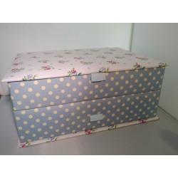 COTTON LARGE JEWELBOX (30 x 21.5 x 12.5 CM)
