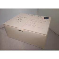CREAM PU POSTCARD JEWELLERY BOX