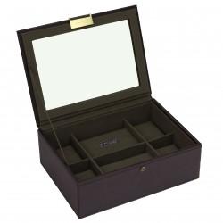 Watchbox 8 Pc Top Brown / Khaki