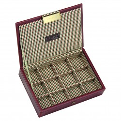 Top Men Tan With Check (18 X 12.5 X 3.5cm)