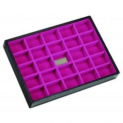 Black / Pink 25 Sect 25 X 18 X 3.5 Cm