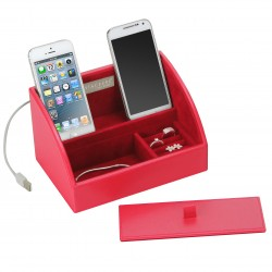 Mini Charging Valet Red