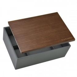 Classic Men Watch Charcoal Grey + Lid 25x18x9.2 Cm