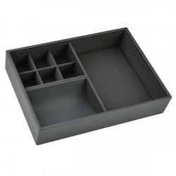 Classic Men Valet Charcoal Grey 25x18x5 Cm